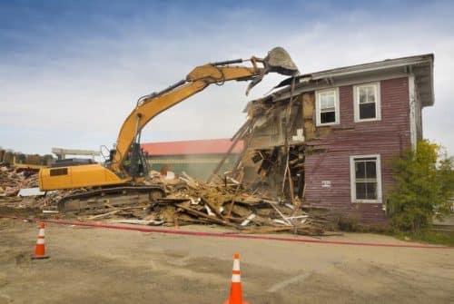 Services de démolition pour les besoins résidentiels