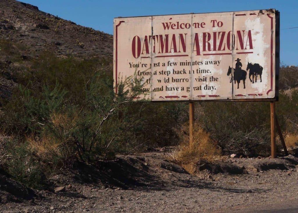 la route de l'Arizona